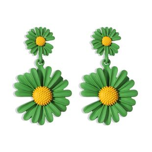 Korean new fashion small daisy flower earrings for women wholesale NHMD210721's discount tags