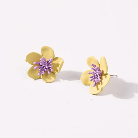 Korean new fashion sweet and lovely flower earrings for women wholesale NHMD210723's discount tags