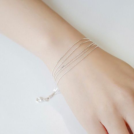 Korean new fashion imitation s925 silver delicate wild five-line bracelet yiwu nihaojewelry wholesale NHSC210816's discount tags