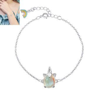 Nueva pulsera de unicornio de moda simple moda dulce OL unicornio pulsera de dibujos animados yiwu nihaojewelry al por mayor NHSC210806's discount tags