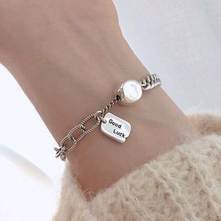 Bracelet en imitation thaïlandaise simple rétro imitation thai pendentif en argent coréen bracelet de mode coréenne yiwu nihaojewelry en gros NHSC210805's discount tags