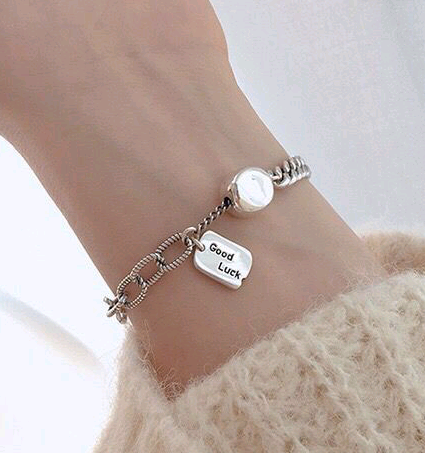 Thai imitation silver bracelet simple retro imitation thai silver pendant Korean fashion bracelet yiwu nihaojewelry wholesale NHSC210805's discount tags
