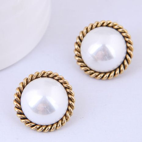 Korean fashion sweet OL pearl earrings yiwu nihaojewelry wholesale NHSC210804's discount tags
