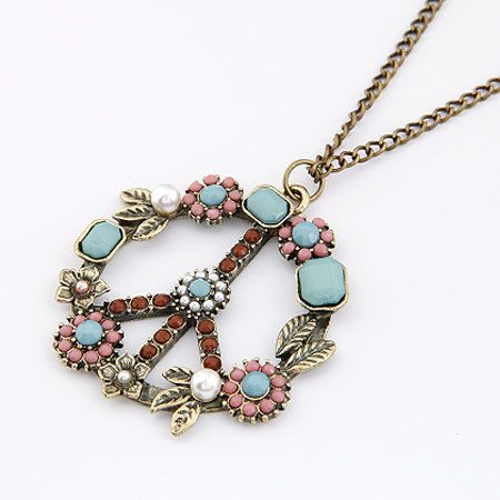 Korean fashion retro peace tag sweater chain yiwu nihaojewelry wholesale NHSC211320