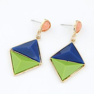 New fashion metal wild geometric diamond-shaped exaggerated earrings yiwu nihaojewelry wholesale NHSC211305's discount tags