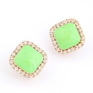 Korean fashion sweet diamond fluorescent earrings yiwu nihaojewelry wholesale NHSC211304's discount tags