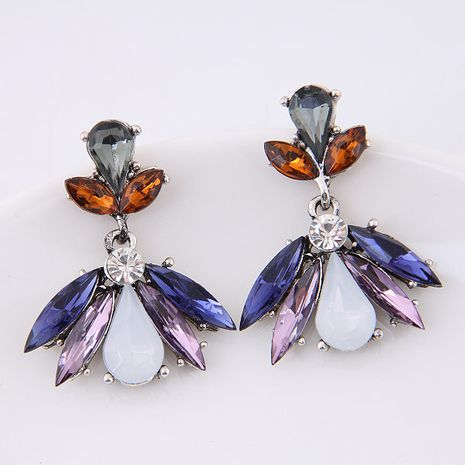 Metal shiny gorgeous gemstone earrings yiwu nihaojewelry wholesale NHSC211303's discount tags