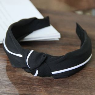 Korean new simple stitching knotted twisted wide-brimmed hair band yiwu nihaojewelry wholesale NHSC211291's discount tags