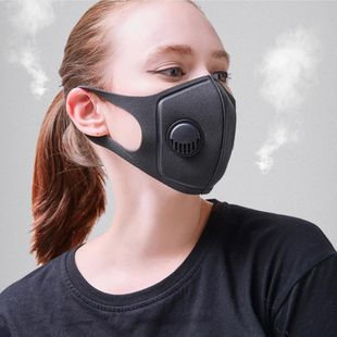 Dust smog PM2.5 breathing valve breathable adult sponge three-dimensional breathing valve mask wholesale NHLL210802's discount tags