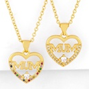 Mother39s day new fashion mum love pendant heartshaped diamond clavicle chain wholesale NHAS210829