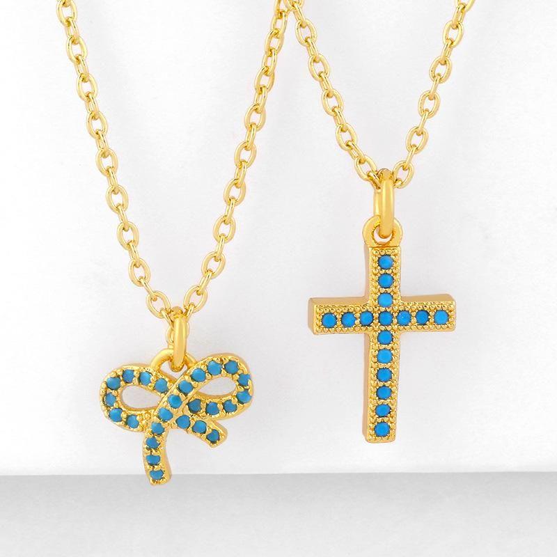 Nouvelle mode hip hop diamant pendentif croix pendentif super fe arc collier en gros NHAS210830
