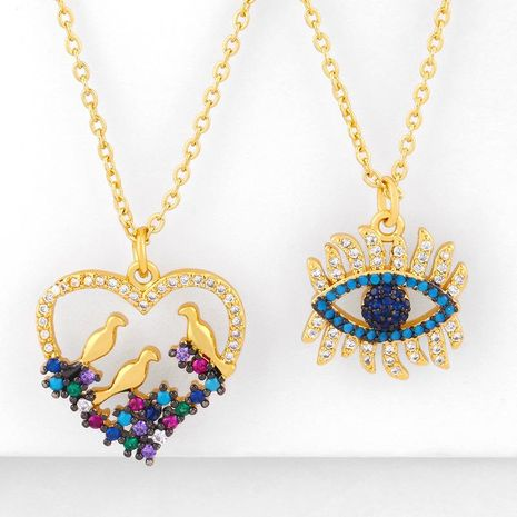 New Fashion Peach Heart Necklace Mother's Day Gift Hip Hop Necklace Wholesale NHAS210831's discount tags