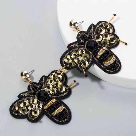 New vintage diamond bead earrings wholesale NHLN210834's discount tags