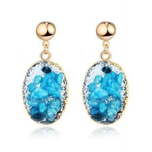 Nuevos pendientes de concha de piedra natural de imitación de moda al por mayor NHGO210842's discount tags