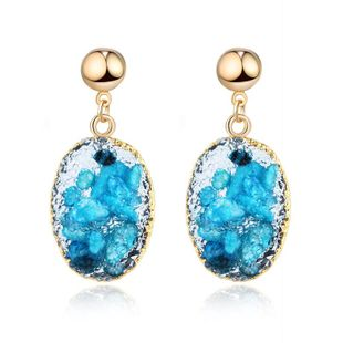 New fashion imitation natural stone shell earrings wholesale NHGO210842's discount tags