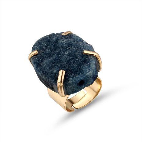 Nouvelle mode irrégulière anneau de pierre naturelle en gros NHGO210843's discount tags