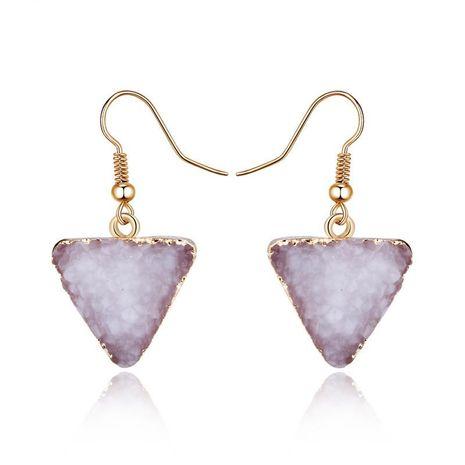 New fashion imitation natural stone earrings triangle retro earrings wholesale NHGO210851's discount tags