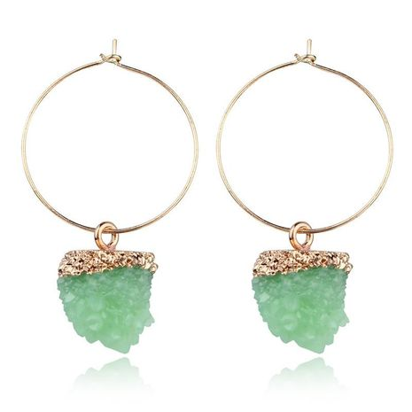 New fashion imitation natural stone earrings spherical earrings wholesale NHGO210852's discount tags