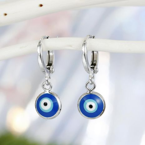 New Fashion Devil's Eye Turkish Blue Eye Drop Earrings Wholesale NHGO210857's discount tags