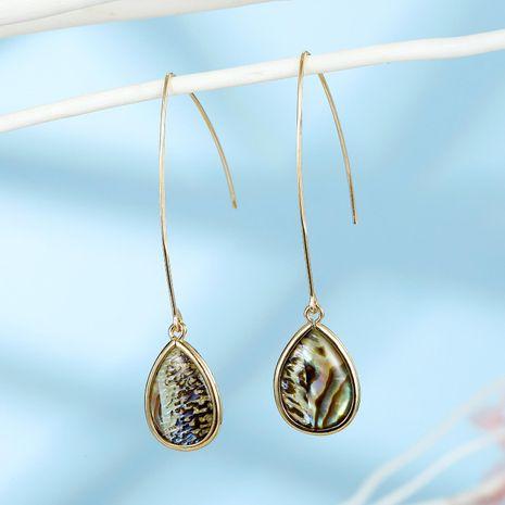 Korean new fashion shell water drop earrings wholesale NHGO210859's discount tags