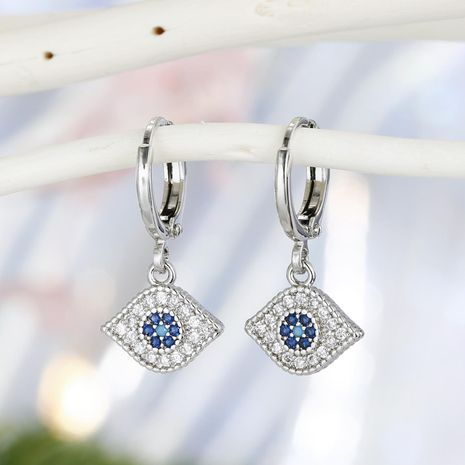 New fashion devil's eyes earrings Turkish zircon diamond earrings wholesale NHGO210860's discount tags