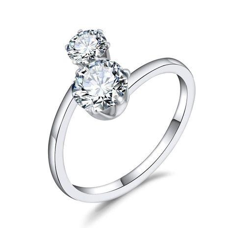 Nouvelle bague de zircon de mode avec diamant réglable en gros NHGO210869's discount tags