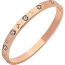 Doce constelaciones de titanio brazalete de acero salvaje 18k brazalete chapado en oro rosa al por mayor NHPP210904