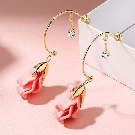 New fashion sweet long flower earrings wholesale NHPP210920's discount tags