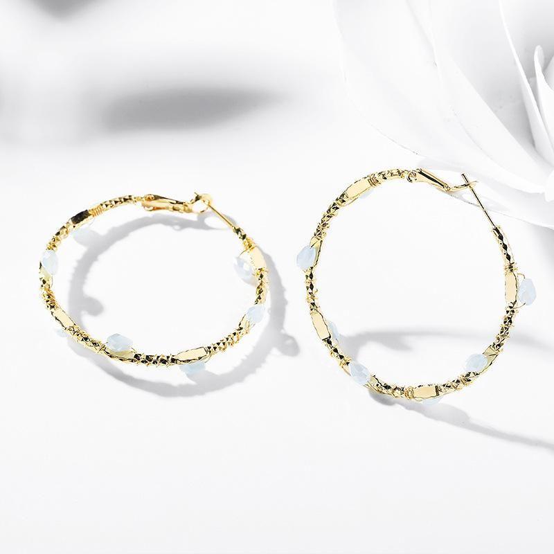 925 silver pin geometric round decorative earrings wholesale NHPP210932