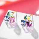 Pendientes simples de plata 925 con pasadores cuadrados de caramelo NHPP210935