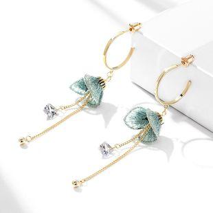 New fashion 925 silver needle flower wild long tassel earrings wholesale NHPP210943's discount tags