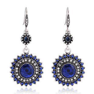New fashion retro bohemian sun flower earrings wholesale NHKQ210946's discount tags