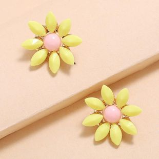 New fashion sweet super fairy wild sunflower earrings wholesale NHKQ210949's discount tags
