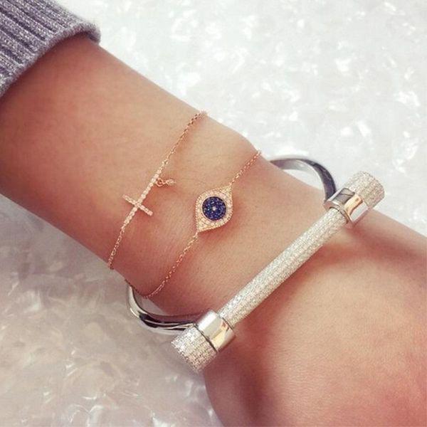 New full diamond horseshoe screw D-shaped bracelet wholesale NHNT210955