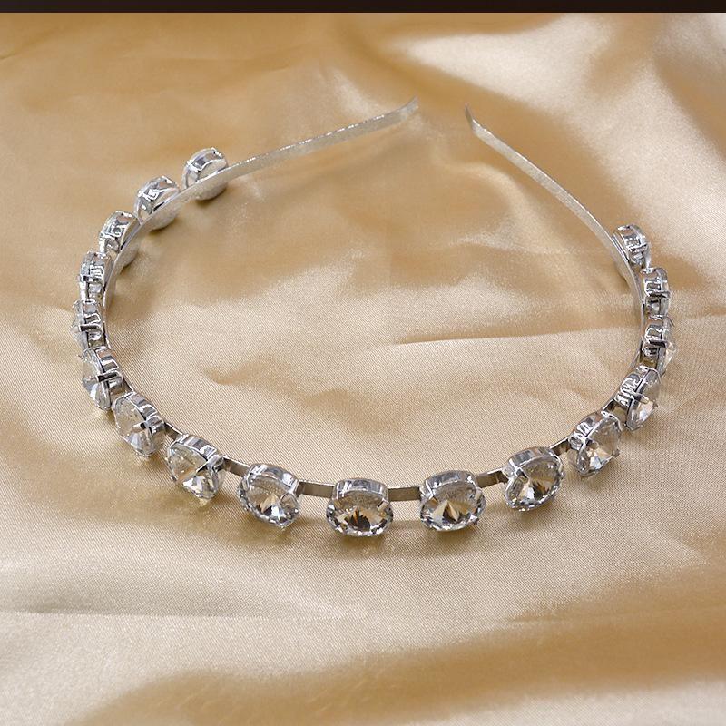 Simple full diamond headband gem crystal fine edge cheap headband wholesale NHNT210968