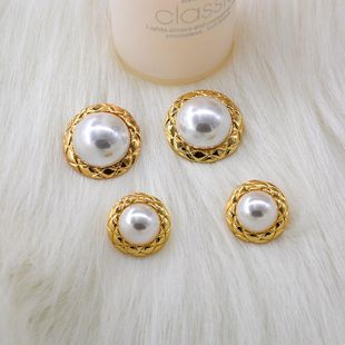 Korean new fashion pearls exaggerated fashion earrings wholesale NHNT210980's discount tags