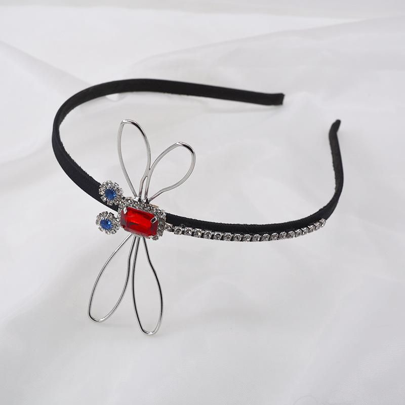 New fashion baroque headband diamond crystal retro palace headband dragonfly cheap headband wholesale NHNT210993