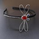 New fashion baroque headband diamond crystal retro palace headband dragonfly cheap headband wholesale NHNT210993