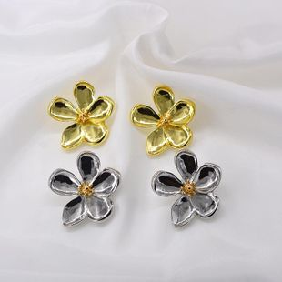 New fashion five-leaf petal earrings wholesale NHNT210999's discount tags