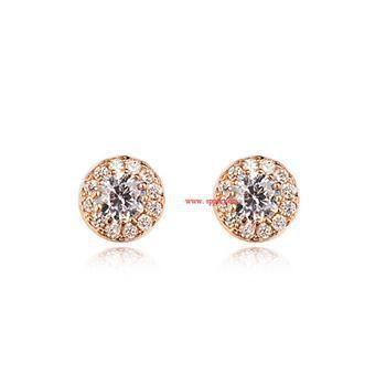 Korean new fashion micro inlaid ball zircon earrings wholesale NHLJ211004
