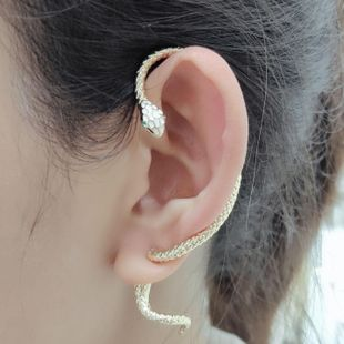 New fashion snake earrings exaggerated single ear clip wholesale NHLJ211007's discount tags