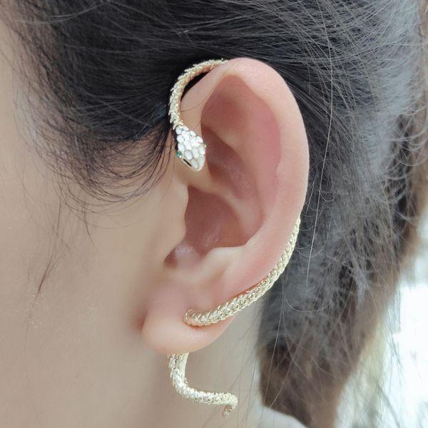 New fashion snake earrings exaggerated single ear clip wholesale NHLJ211007