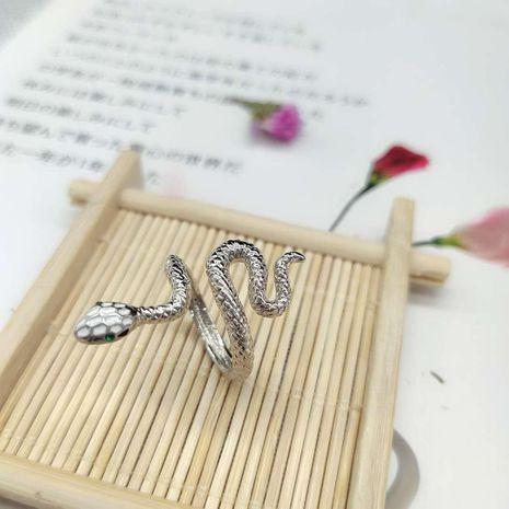 Nouveau anneau en deux sections en forme de serpent simple exagéré anneau de serpent réglable NHLJ211010's discount tags