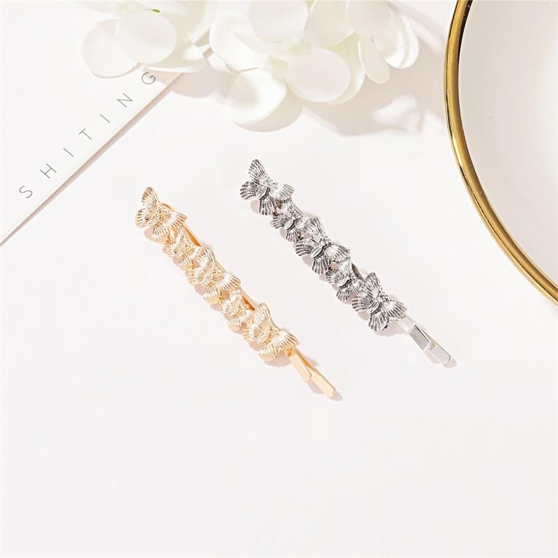 New retro metal butterfly hairpin insect word clip fashion cheap side clip wholesale NHDP210735