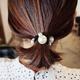 Fashion sweet and simple elegant pearl cheap scrunchies yiwu nihaojewelry wholesale NHSC211284