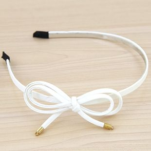 Korean fashion lady double bowknot leather headband yiwu nihaojewelry wholesale NHSC211285's discount tags