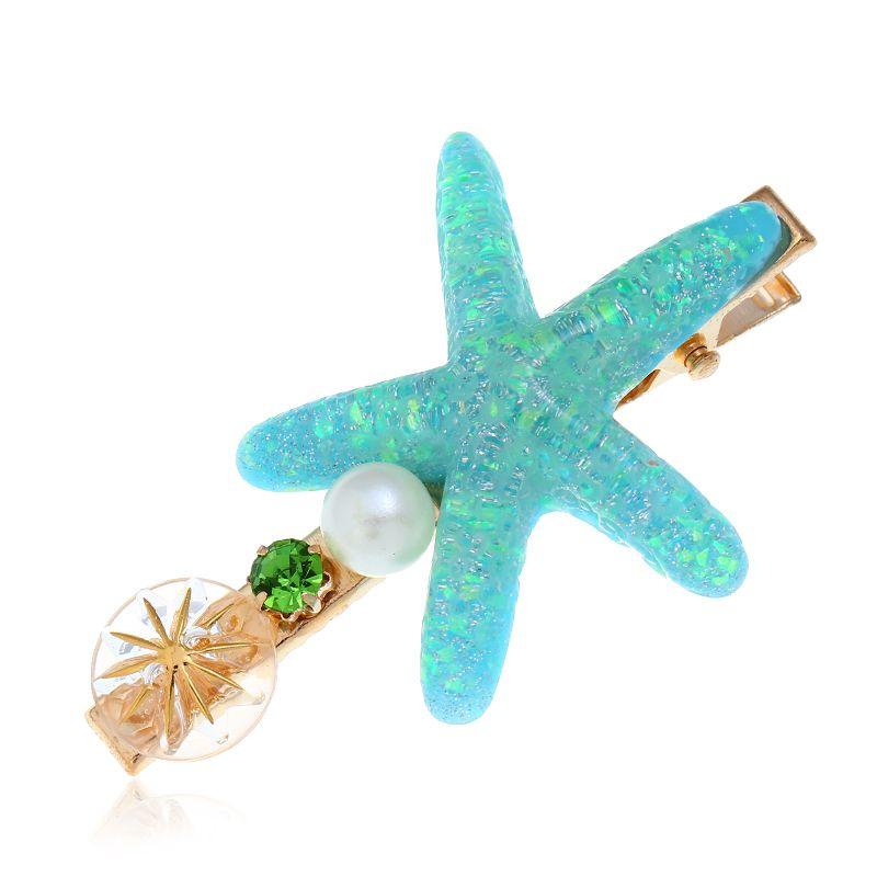 New fashion simple starfish hairpin yiwu nihaojewelry wholesale NHSC211275