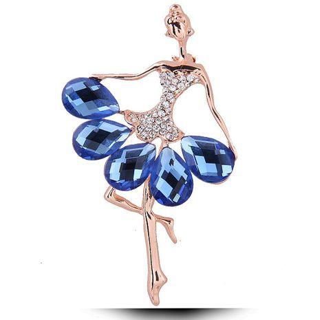 Fashion diamond ballet girl brooch yiwu nihaojewelry wholesale NHSC211273's discount tags