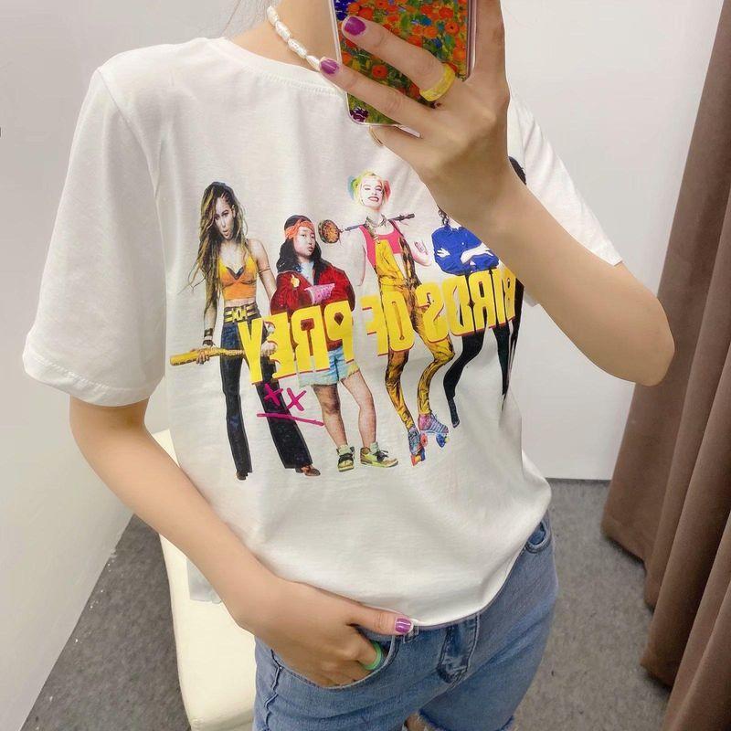 Wholesale Spring College Style Short Sleeve Short T-shirt Women's Tops NHAM211101