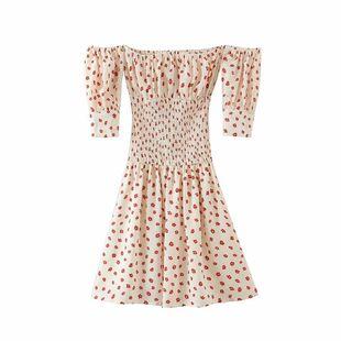 Wholesale Spring Fashion Retro Flower Printed Collar Dress NHAM211116's discount tags